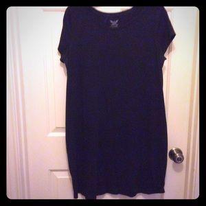 Faded Glory L(12-14) black cap sleeve A-line dress